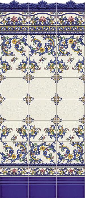 Схема раскладки плитки.